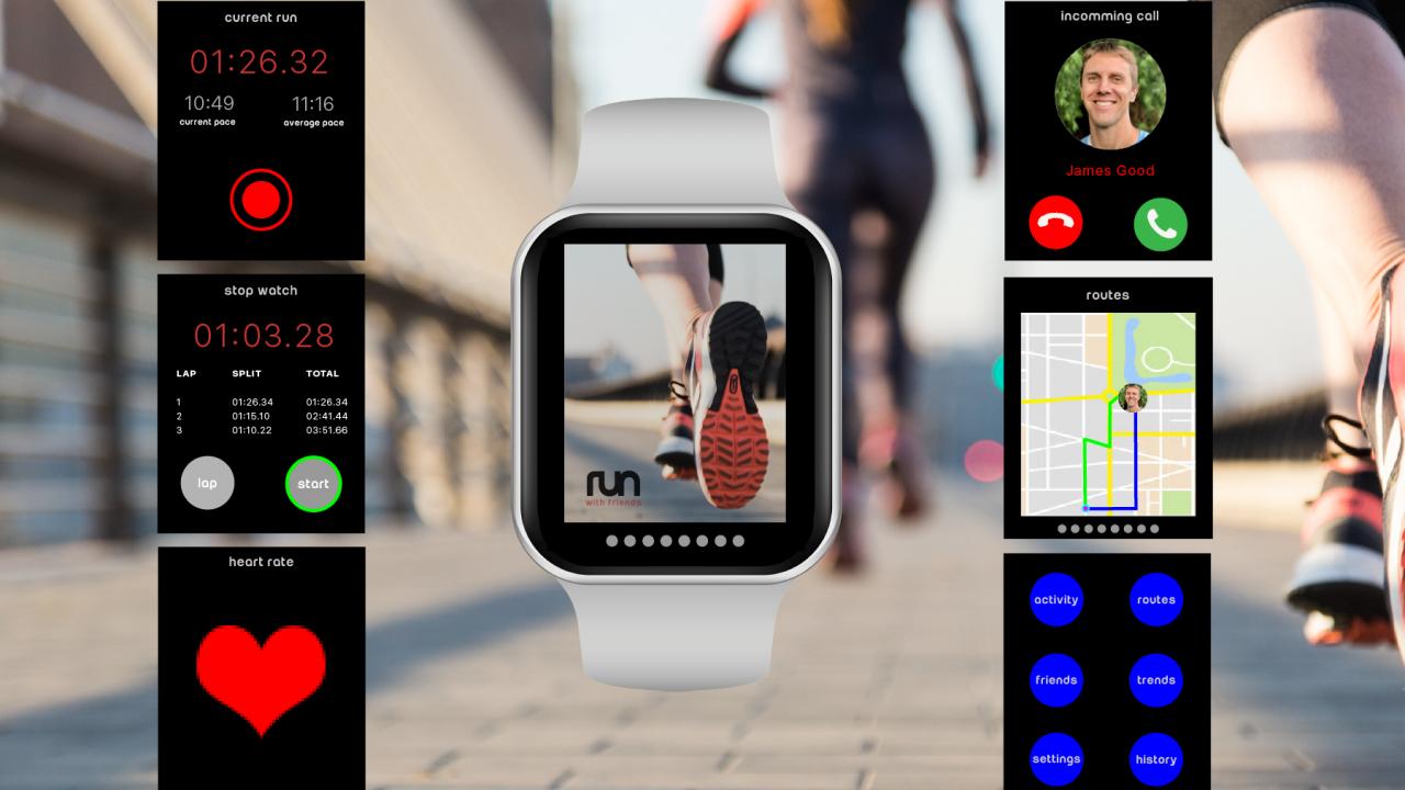 Run with Friends SmartWatch App
