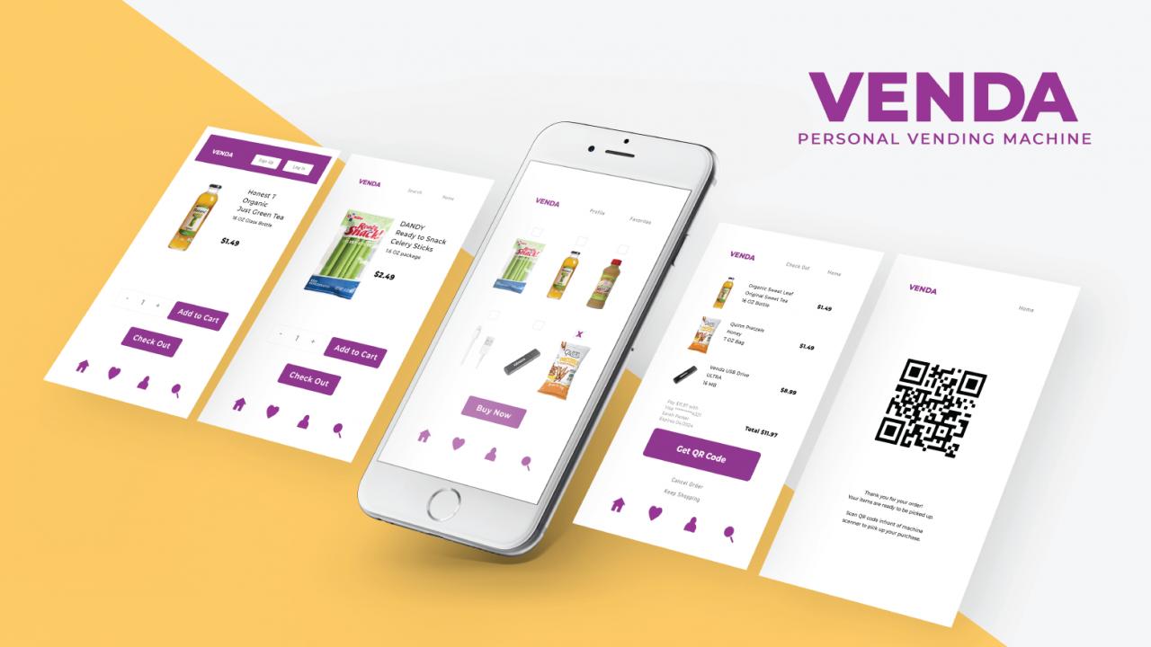 Venda – Personal Vending Machine App