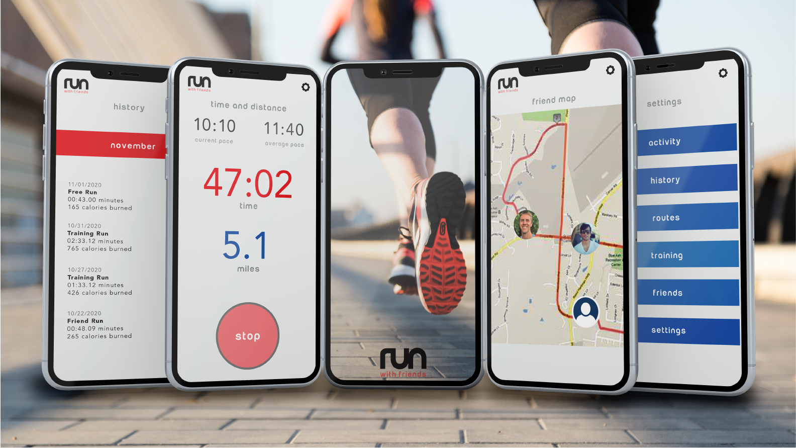 Run with Friends Mobile App