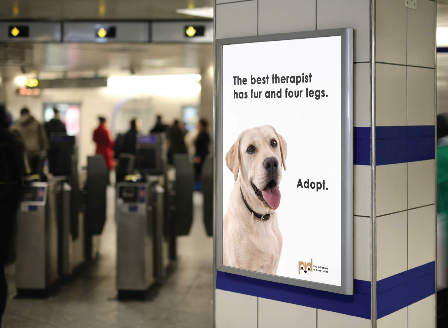 Pets in Distress Commuter Station Poster