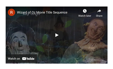 Movie Title Sequence: The Wizard of Oz