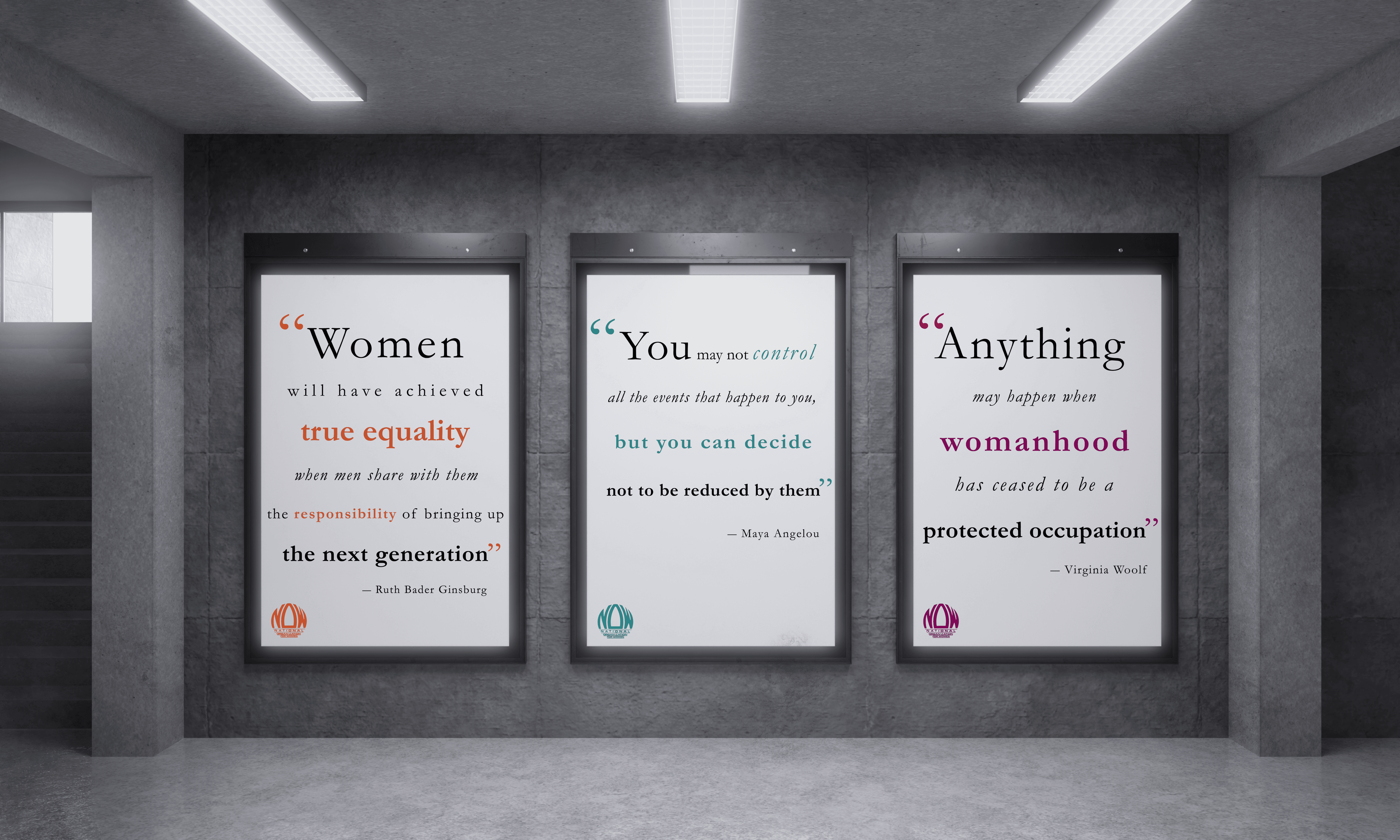 National Organization for Women Lobby Posters